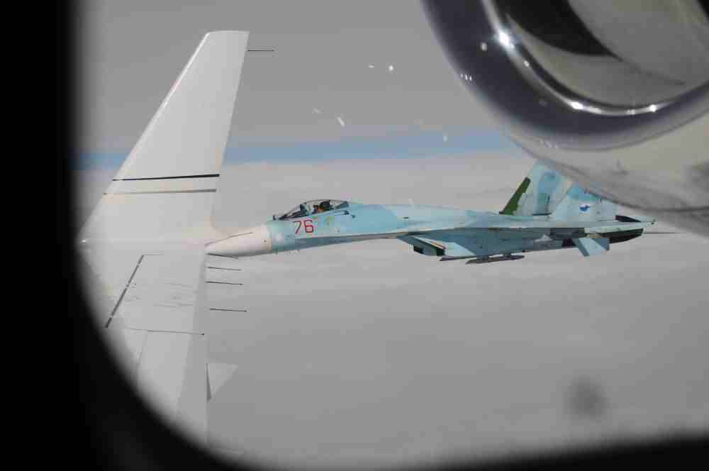 СМИ: Американските бомбардировачи моментално бяха прихванати от руския Су-27