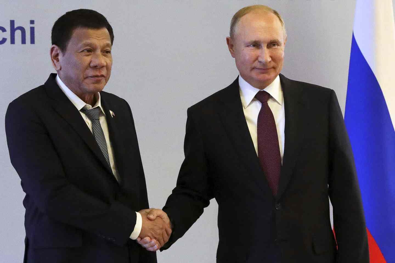 Путин и президентът на Филипините разговаряха по телефона