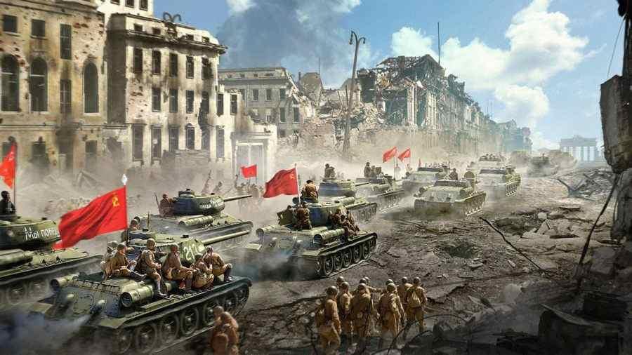 Червената армия на СССР помете фашистите като необуздана буря!
