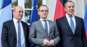 Сергей Лавров обсъди Донбас с Франция и Германия