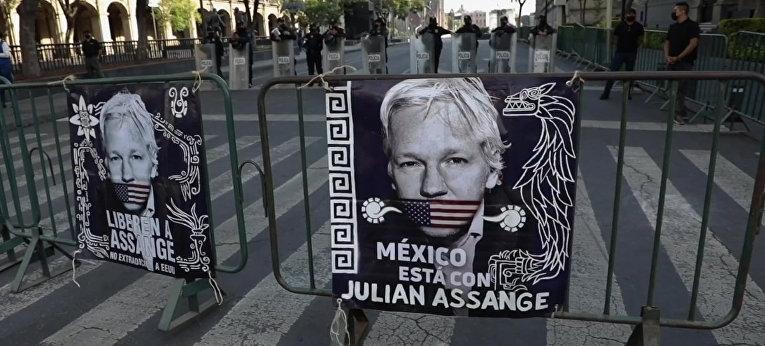 Пред Националния дворец искат свобождаването на Асанж