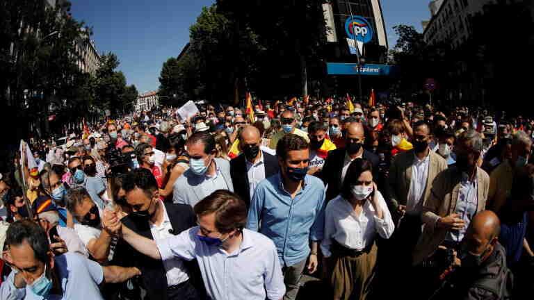 Десетки хиляди протестират срещу помилването на каталунски политик от лявото правителство на Санчес