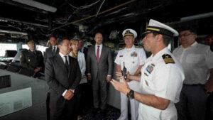 Зеленски в Деня на украинския флот посети американски миноносец