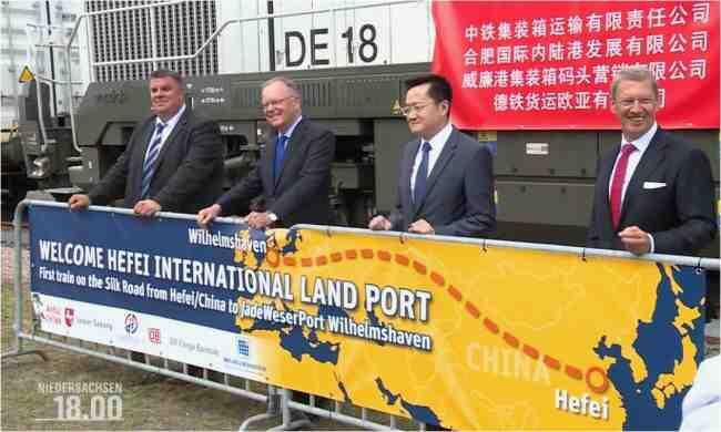 """В Германия пристигна първият влак от Китай по """"Новия път на коприната"""""""