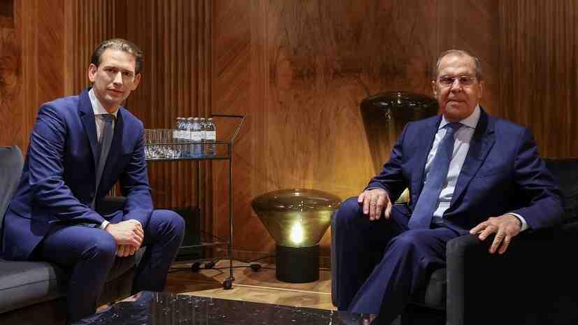 Курц високо оцени преговорите със Сергей Лавров във Виена