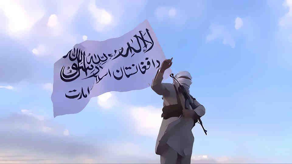 Талибански бойци победоносно патрулират по улиците