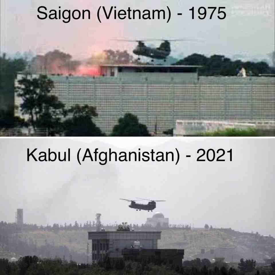 """""""Исторически кадри"""": Дипломатите на САЩ бягат от покрива на посолството в Кабул"""