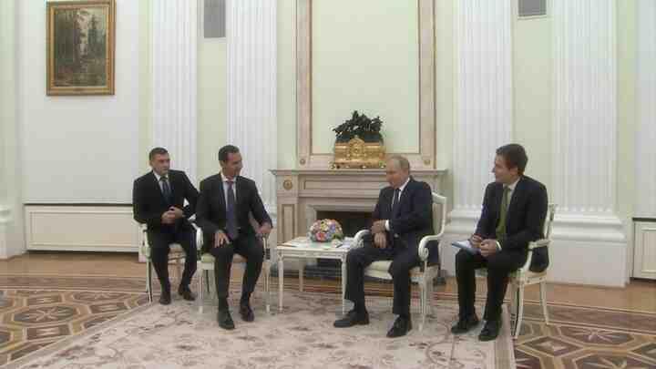 Путин се срещна с Асад в Кремъл