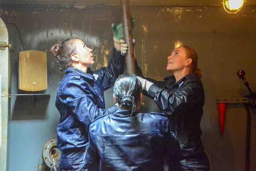 Първият женски екипаж на патрулен катер на Черноморския флот на Русия