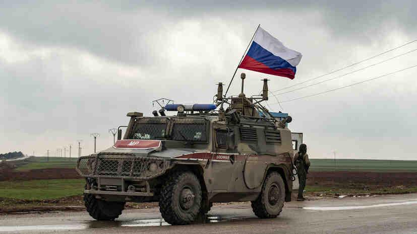 Руската военна полиция започна да патрулира в град Дера ал-Балад в Сирия