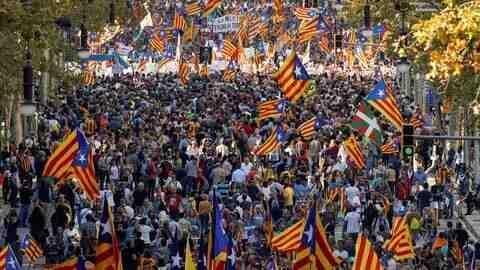 Шествие за независимост в Каталуня
